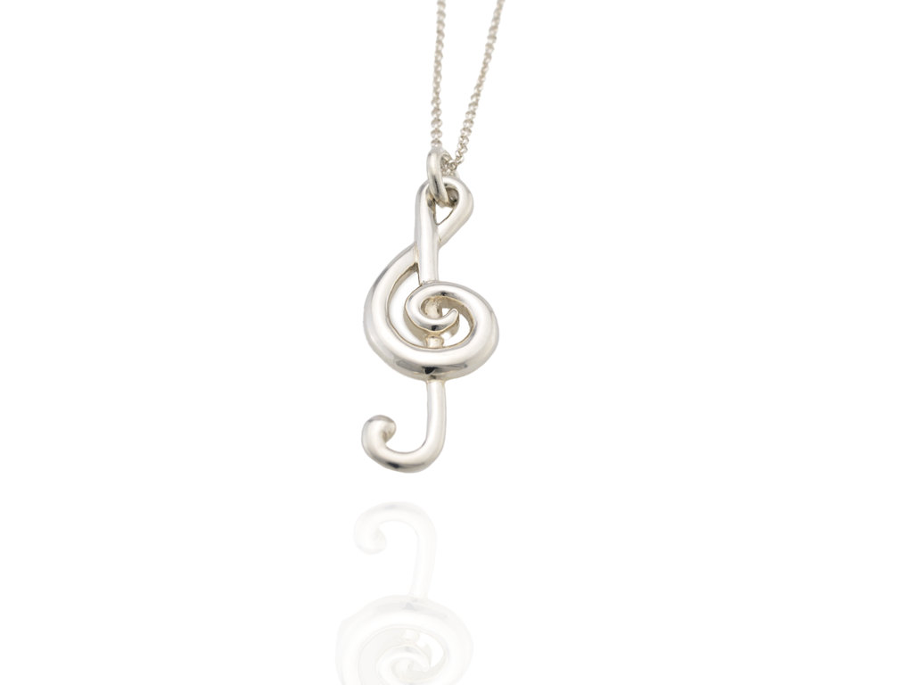 treble clef pendant large