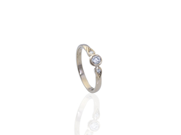 white gold diamond ring - Charleston