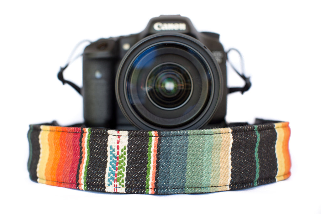 Bohemian Camera Strap Sunset Aztec