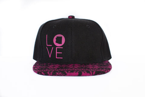 z AZ LOVE HAT PINK AND BLACK