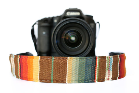 Bohemian Camera Strap Sunset Aztec Brown