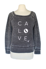 z CA LOVE SCOOP NECK ACID WASH SWEATSHIRT