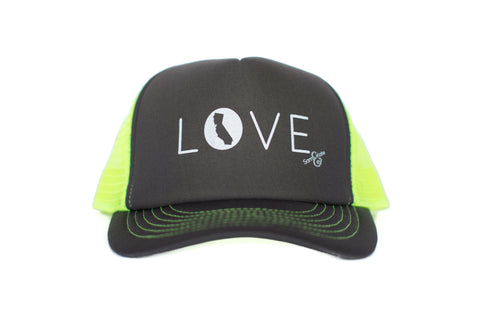 z CA LOVE HAT LIME GREEN