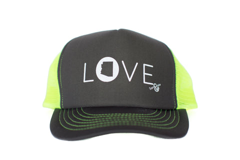 z AZ LOVE HAT LIME GREEN