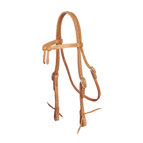 Double & Stitched Harness leather Futurity Knot Bridle
