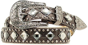 Nocona Women's Croc Print Diamond Studded Belt