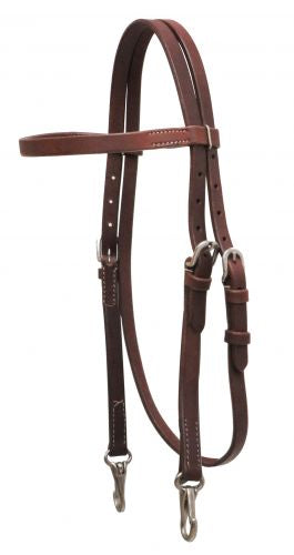 Headstall leather w/snaps