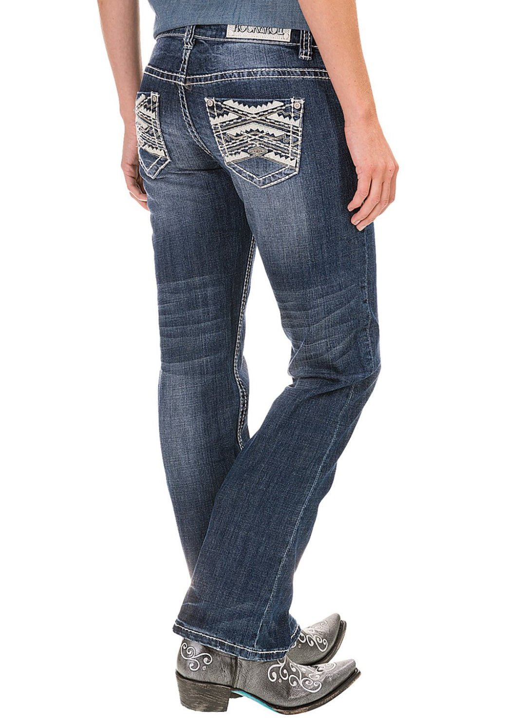 Rock & Roll Cowgirl Jeans, W7-6437