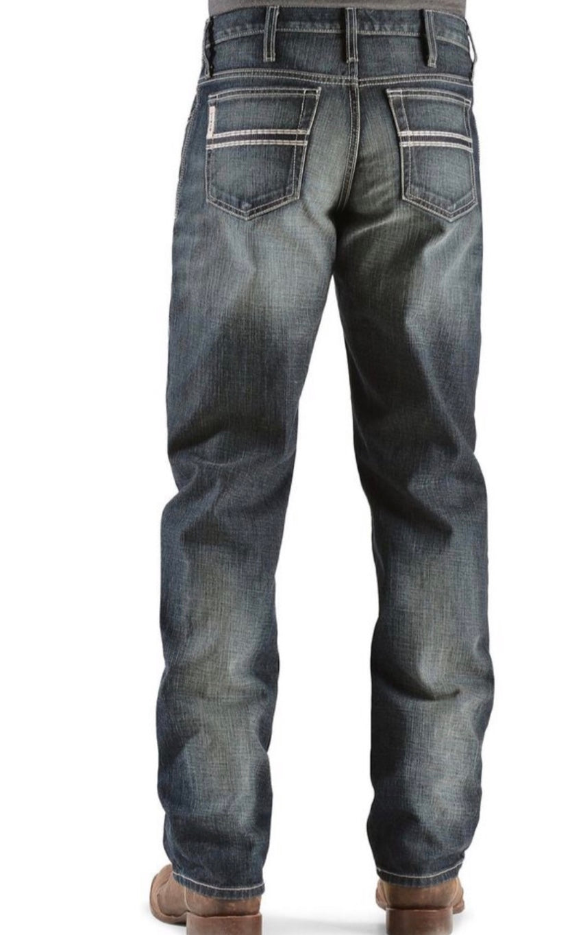 Cinch White Label Relaxed Fit Mid-Rise Jeans Dark Stonewash