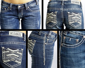 Rock & Roll Cowgirl Ladies Jeans, w7-6437