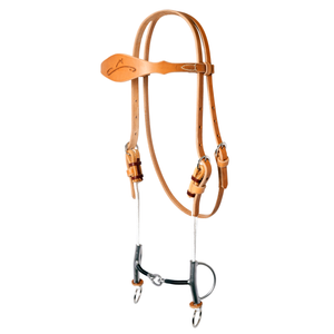 Sharon Camarillo Draw Gag Bridle with Signature Iron-Wrapped Lifesaver