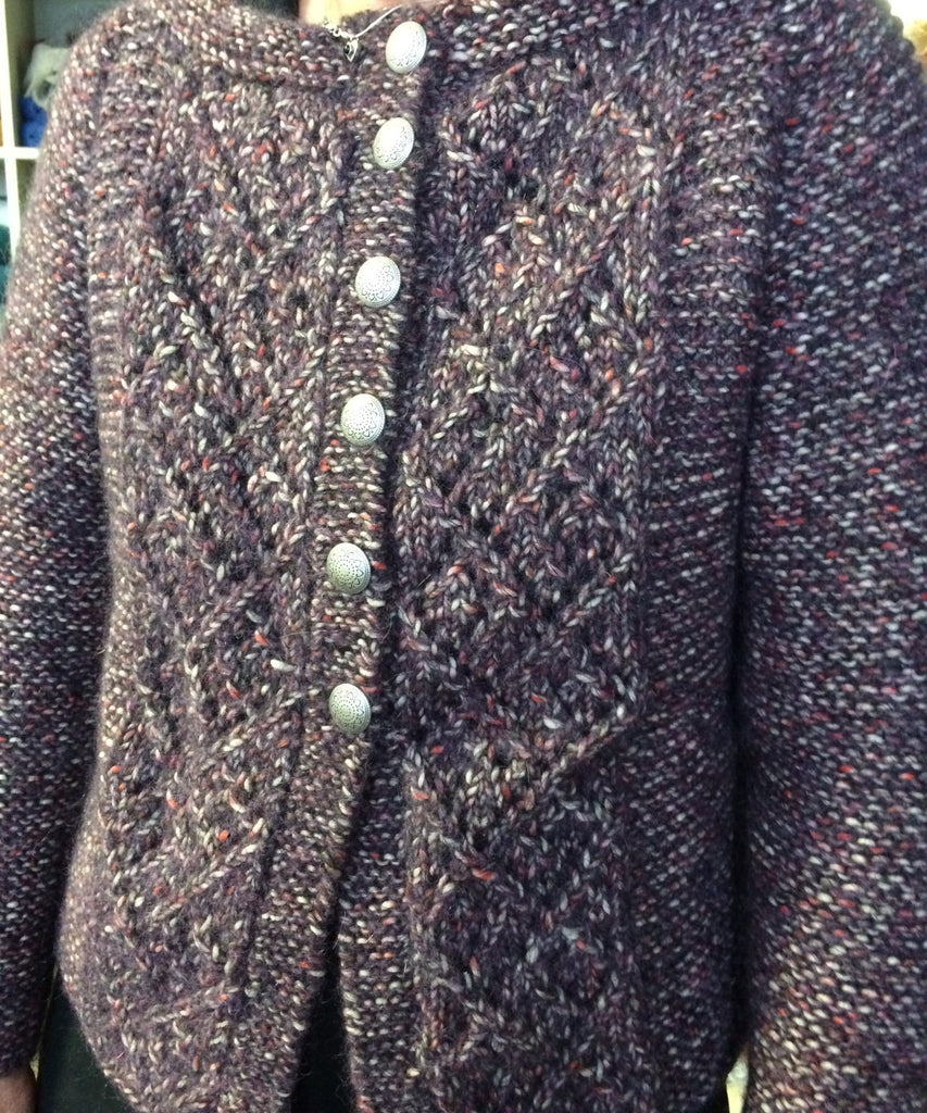 Fazed Tweed Lace Front Cardigan