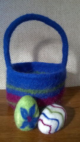 Workshop Felted Easter Basket with Eggs