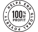 100% of Profit Helps End Global Poverty