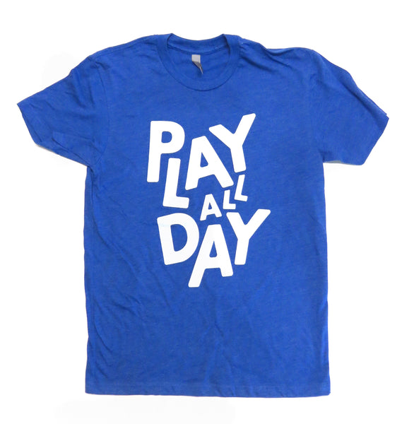 Blue Play All Day Tee