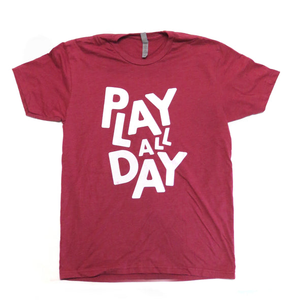 Red Play All Day Tee