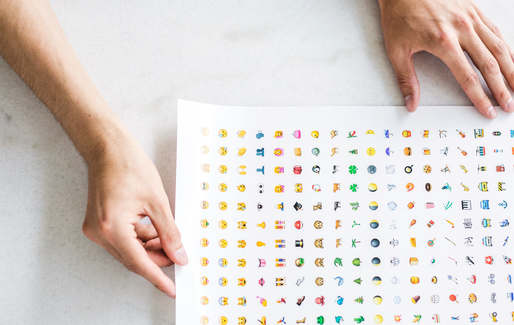 emoji poster close-up