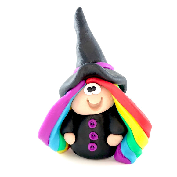 Handmade polymer clay witch