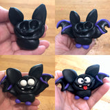 Handmade polymer clay bat