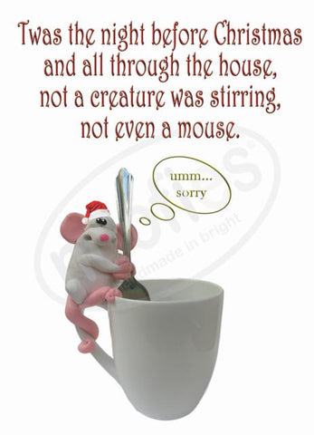 Christmas Mouse Greeting Card