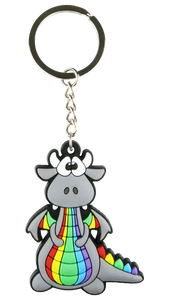 Rainbow Dragon Keyring