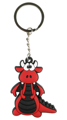 Red Dragon Keyring