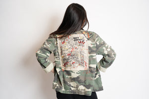 TRUE JOY CAMO JACKET - INSPIRATIONAL PHRASES