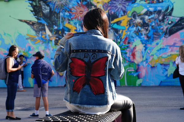 TRUE JOY JEAN JACKET OVERSIZED - BUTTERFLY COLLECTION