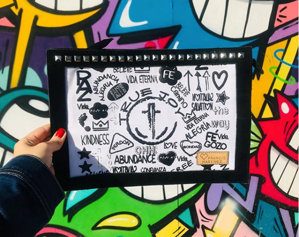 TRUE JOY LEATHER CLUTCH - GRAFFITI COLLECTION