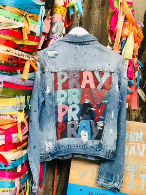 Pray pray pray denim collection