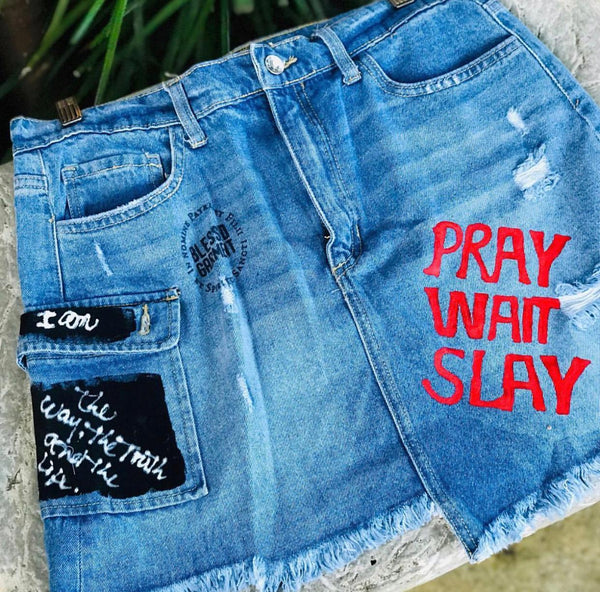 pray wait slay skirt collection