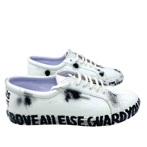 SUPERGA WHITE SHOES PAINTED
