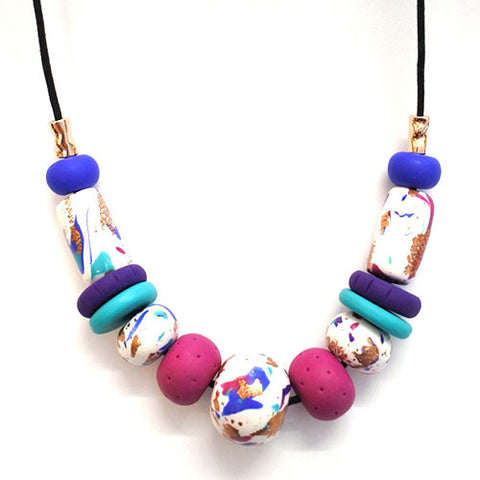 Hazel -  Polymer Clay Necklace