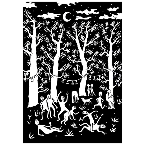 'Midnight Gathering' Print