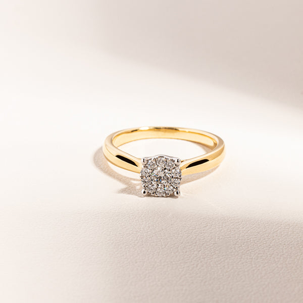 18ct Yellow Gold Diamond Constellation Ring - Walker & Hall