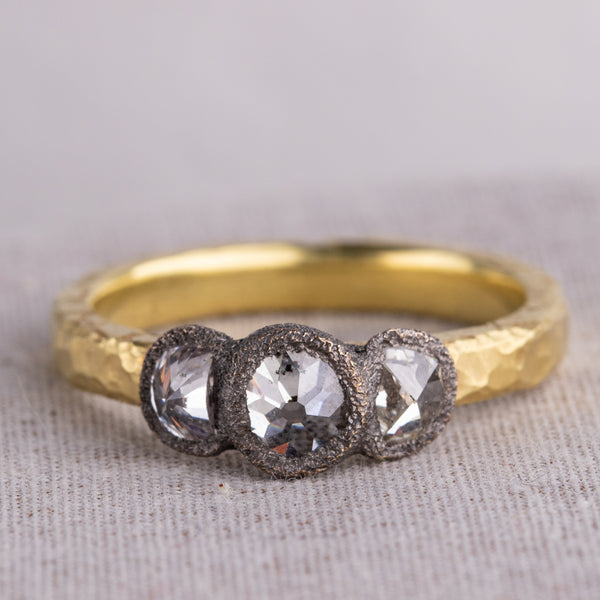 18ct Yellow Gold Inverted 1.23ct Diamond Ring - Walker & Hall