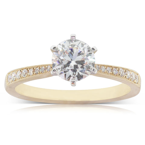 18ct Yellow Gold 1.00ct Diamond Zenith Ring - Walker & Hall
