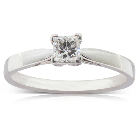 Platinum .52ct Diamond Ring - Walker & Hall