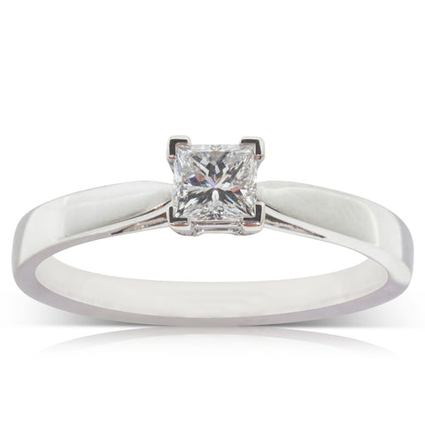 Platinum .53ct Diamond Ring - Walker & Hall