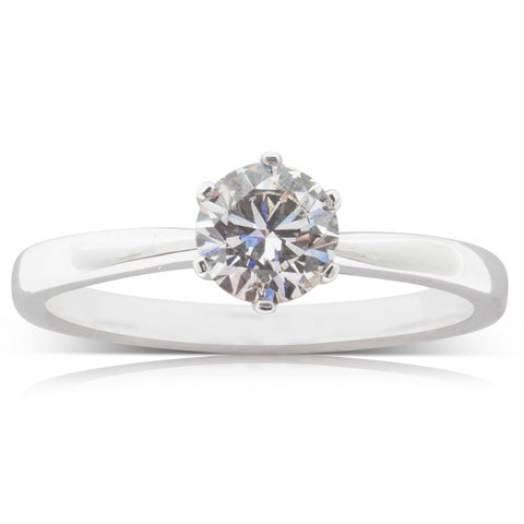 18ct White Gold .96ct Diamond Nova Ring - Walker & Hall