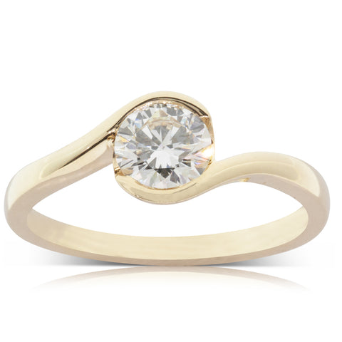 18ct Yellow Gold 1.00ct Diamond Embrace Ring - Walker & Hall
