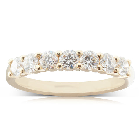18ct Yellow Gold 1.21ct Diamond Panorama Ring - Walker & Hall