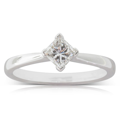 18ct White Gold .55ct Diamond Ring - Walker & Hall