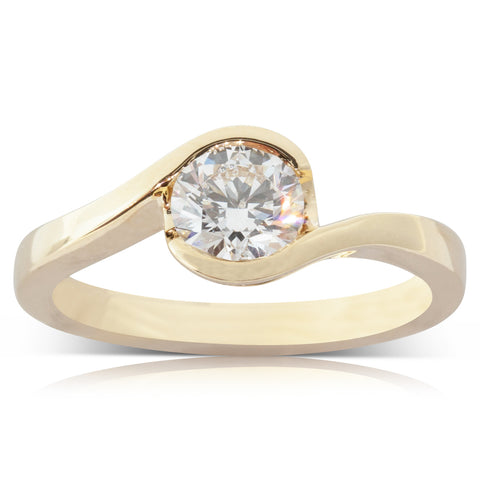18ct Yellow Gold .70ct Diamond Embrace Ring - Walker & Hall