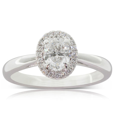 18ct White Gold .70ct Diamond Ring - Walker & Hall