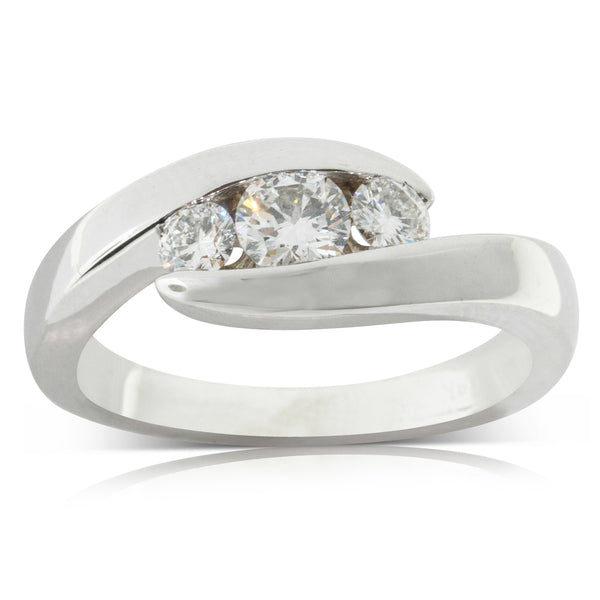Deja Vu 18ct White Gold .53ct Diamond Ring - Walker & Hall