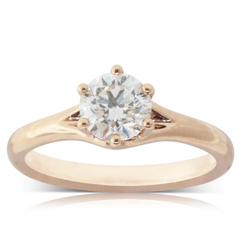 18ct Rose Gold 1.02ct Diamond Grace Ring - Walker & Hall