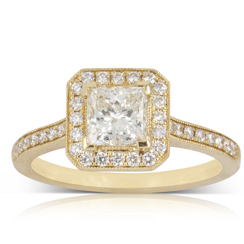 18ct Yellow Gold 1.02ct Diamond Mandalay Ring - Walker & Hall
