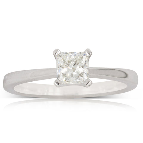 18ct White Gold .76ct Diamond Royale Ring - Walker & Hall