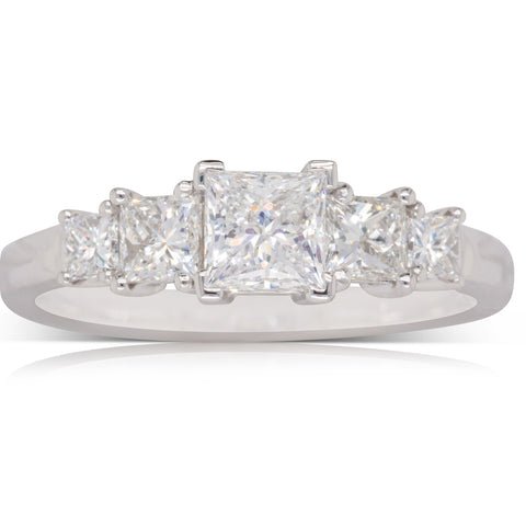 18ct White Gold .60ct Diamond Giselle Ring - Walker & Hall
